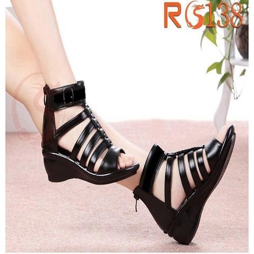 Giày sandal nữ đẹp chiến binh đế xuồng hàng hiệu rosata-ro138