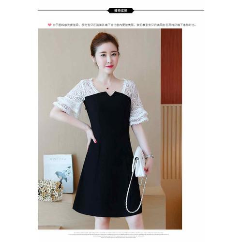 Đầm đen phối ren