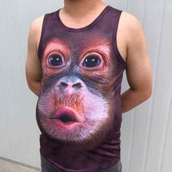 Áo thun 3 lỗ khỉ 3D quảng châu cao cấp