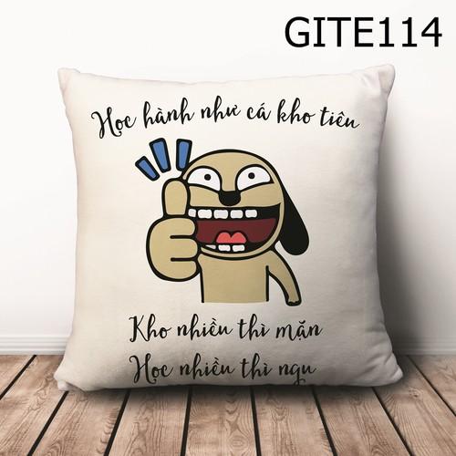 Gối vuông Quote hài hước GVHT475