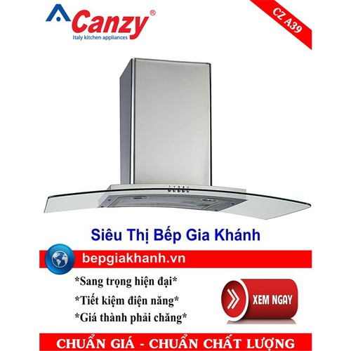 Máy hút mùi nhà bếp dạng kính cong 90cm Canzy CZ A39