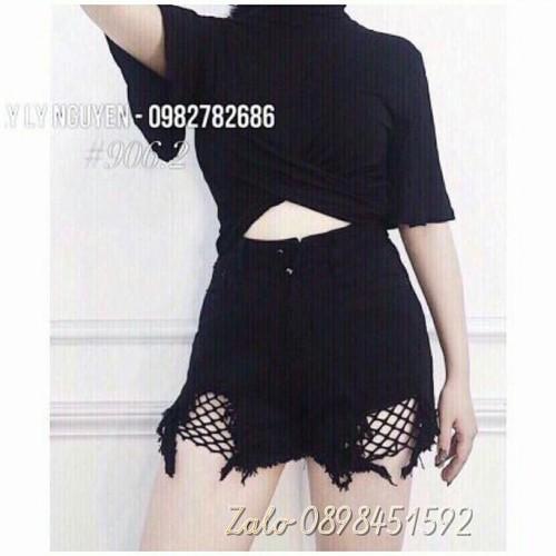 Quần short jean nữ đen kiểu mới - 7575530 , 16267445 , 15_16267445 , 98000 , Quan-short-jean-nu-den-kieu-moi-15_16267445 , sendo.vn , Quần short jean nữ đen kiểu mới