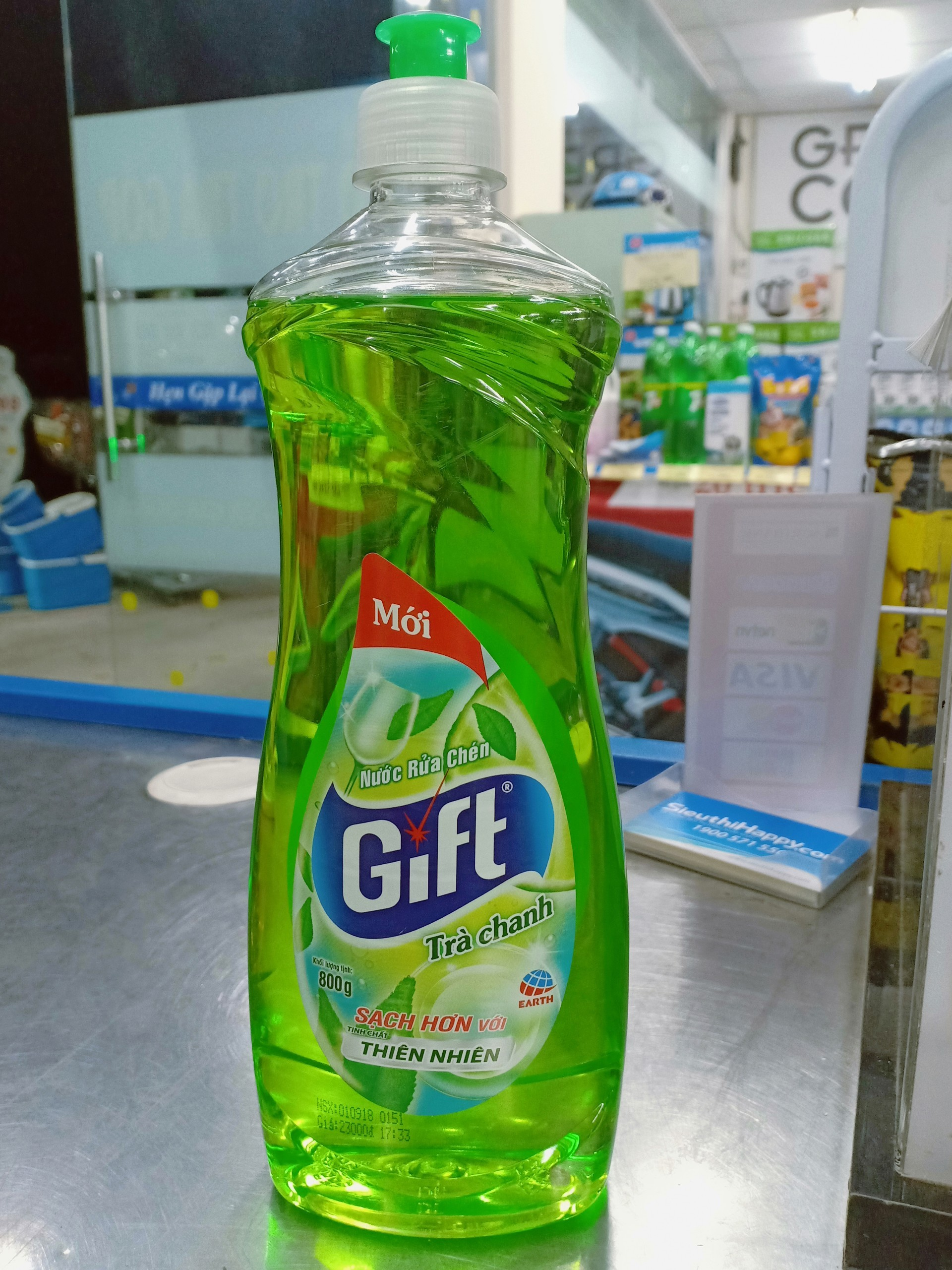 Nước rửa chén Gift hương trà chanh 800g