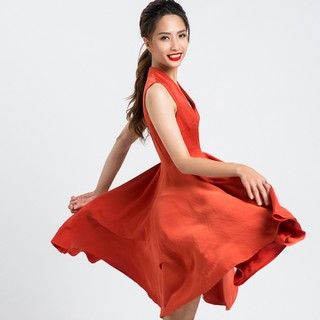 Đầm Xòe Tuyệt Đẹp Đầm Fit nFlare Hity DRE079 Cam Đất Terracotta - DRE079-CAM ĐẤT TERRACOTTA thumbnail