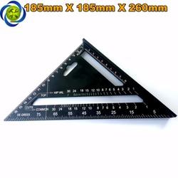 Thước tam giác nhôm đen 185mm x 185mm x 260mm A10D04