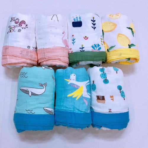 Chăn đắp - khăn tắm muslin 4 lớp