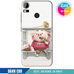 Ốp lưng nhựa dẻo dành cho HTC Desire 10 Pro in hình Heo Con Kute