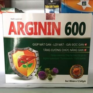 VIÊN UỐNG BỔ GAN ARGININ 600 - NGUYÊN LIỆU NHẬP KHẨU MỸ - HỘP 60 VIÊN - ARGININ 600 XANH thumbnail
