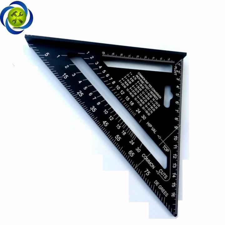 Thước tam giác nhôm đen 185mm x 185mm x 260mm A10D04 3