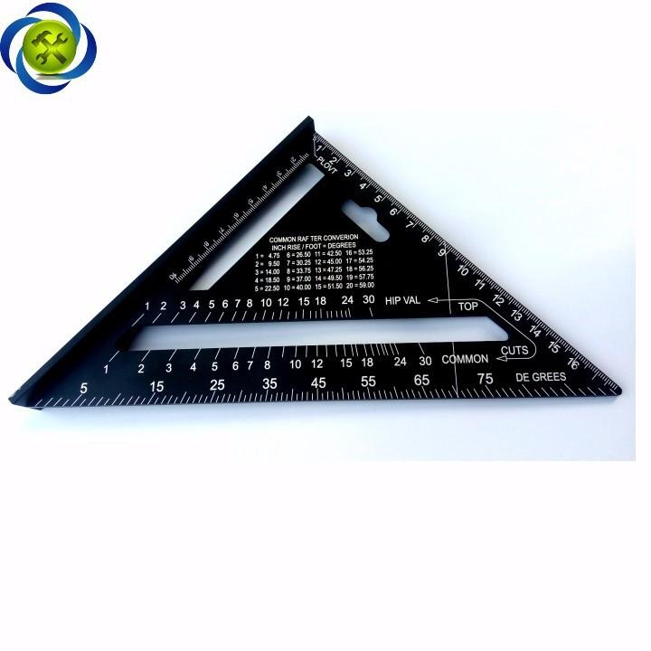 Thước tam giác nhôm đen 185mm x 185mm x 260mm A10D04 2