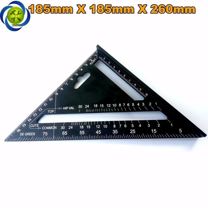 Thước tam giác nhôm đen 185mm x 185mm x 260mm A10D04 1
