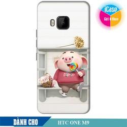 Ốp lưng nhựa dẻo dành cho HTC One M9 in hình Heo Con Kute