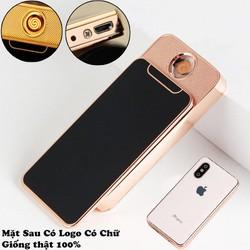 Bật - lửa điện sạc hình iPhone X, bật - lửa hồng ngoại hình iPhone X, bat - lua ,có hộp mặt sau tráng kính - Cao cấp