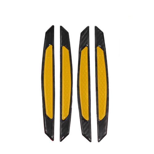 Bộ 4 chiếc nẹp chống va đập phản quang FQ112-Mầu Đen-Vàng