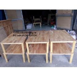 Bàn gỗ ngồi bệt màu gỗ tại xưởng đóng Nội Thất Thời Thượng