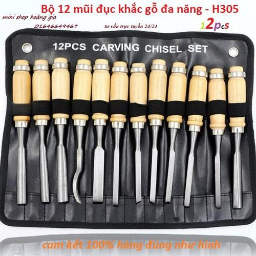 Bộ 12 mũi dao đục bằng thép QDQ8366