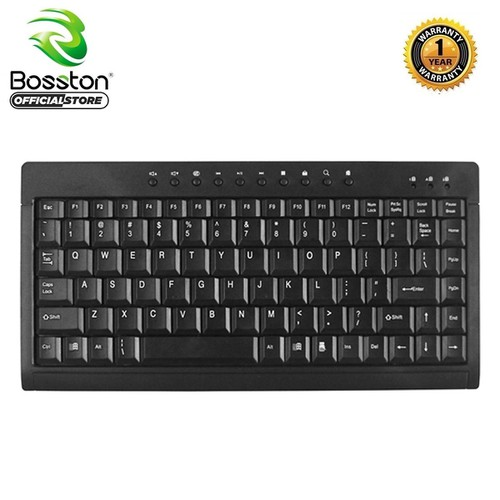 Bàn phím mini có dây Bosston K1000 - Hỗ trợ 10 phím multimedia [Đen] - Hãng Phân Phối Chính Thức - 7895266 , 16270524 , 15_16270524 , 110000 , Ban-phim-mini-co-day-Bosston-K1000-Ho-tro-10-phim-multimedia-Den-Hang-Phan-Phoi-Chinh-Thuc-15_16270524 , sendo.vn , Bàn phím mini có dây Bosston K1000 - Hỗ trợ 10 phím multimedia [Đen] - Hãng Phân Phối Chín