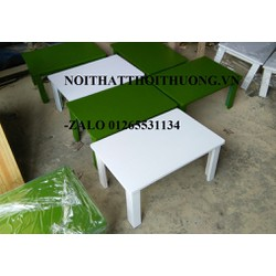 Bàn gỗ ngồi bệt sơn màu-Noithatthoithuong.vn