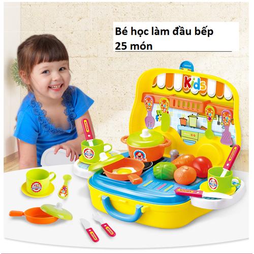 Đồ chơi cho bé 3 tuổi bộ dụng cụ nấu ăn đầu bếp IZI Toys có ảnh thật
