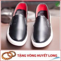 Giày Slip On Nam Aroti Đế Khâu Chắc Chắn Phong Cách Đơn Giản Màu Đen - M498-DEN-25219