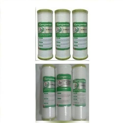 Bộ lõi lọc nước Kan garoo 1,2,3 + 3 lõi kan garoo số 1 dùng cho máy lọc nước kan garoo -new