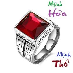 nhẫn phong thủy, nhẫn nam phong thủy, nhẫn inox, nhẫn titan, NMH, NMT