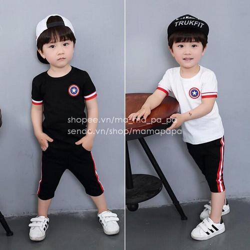 Bộ cotton ngôi sao đội trưởng cho bé trai - 7911838 , 16275485 , 15_16275485 , 110000 , Bo-cotton-ngoi-sao-doi-truong-cho-be-trai-15_16275485 , sendo.vn , Bộ cotton ngôi sao đội trưởng cho bé trai