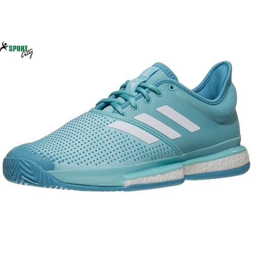 Giày tennis - Giày tennis adidas SoleCourt Boost Parley Blue Men