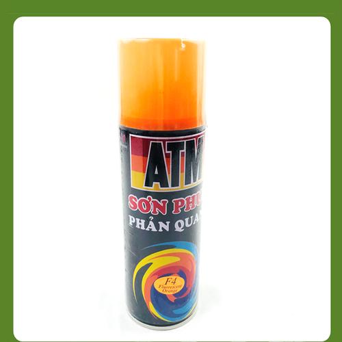 Sơn xịt ATM màu phản quang Totoco F4 Orange