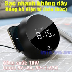 Sạc nhanh không dây đồng hồ điện tử báo thức