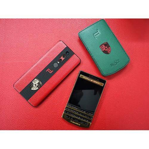 Miếng dán da skin Huawei Mate RS - 3 sọc - Đỏ Đen có ghép hình