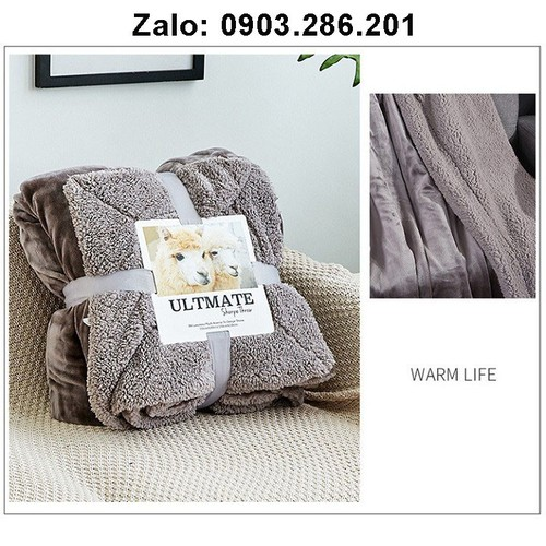 chăn lông cừu - chăn đông