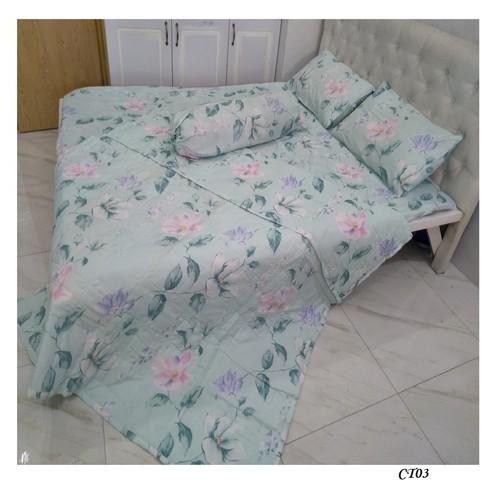 Bộ drap mền vải lanh CT03