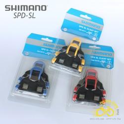 Bộ can cá pedal xe đạp road Shimano SPD-SL Cleats SM-SH10  SM-SH11  SM-SH12