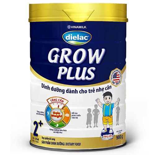 SỮA BỘT VINAMILK DIELAC GROW PLUS 2 MÀU XANH - HỘP THIẾC 900G - SB08