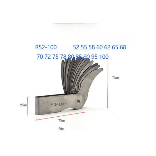 Bộ dưỡng đo bán kính 52-100mm 16 lá