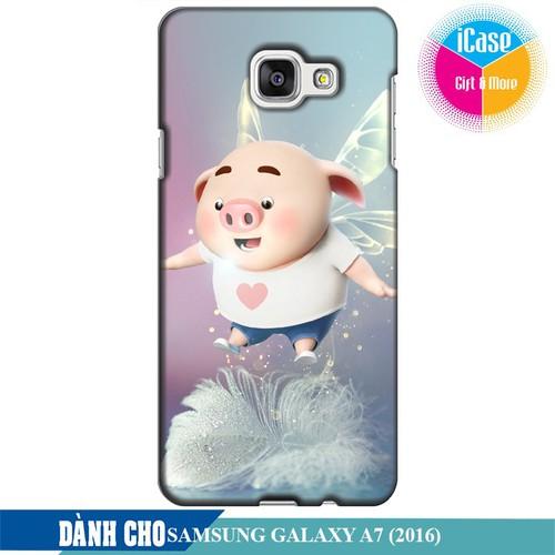 Ốp lưng nhựa dẻo dành cho Samsung Galaxy A7 2016 in hình Heo Con Bay Bổng