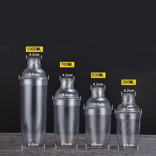 Bình Lắc Shaker Pha Chế Cocktail Trà Sữa Dung Tích 530ml