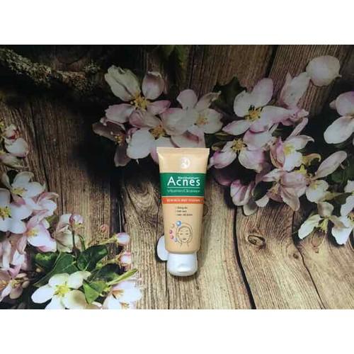 Sữa rửa mặt Acne Vitamin Sáng da Mờ sẹo Mờ vết thâm 50g