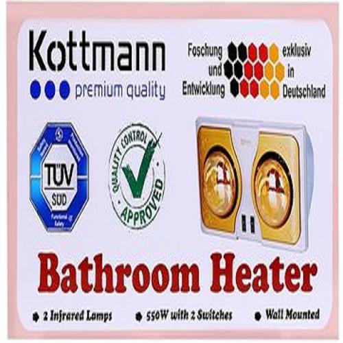 Đèn sưởi 2 bóng Kott-mann vàng K2B_H