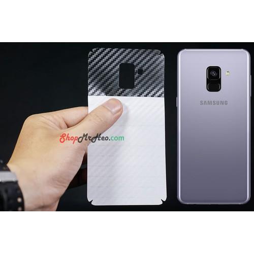 Bộ 3 Skin Dán Mặt Sau Lưng Vân 3D Samsung A8 2018