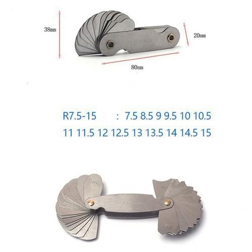 Bộ dưỡng đo bán kính 7.5-15mm 32 lá