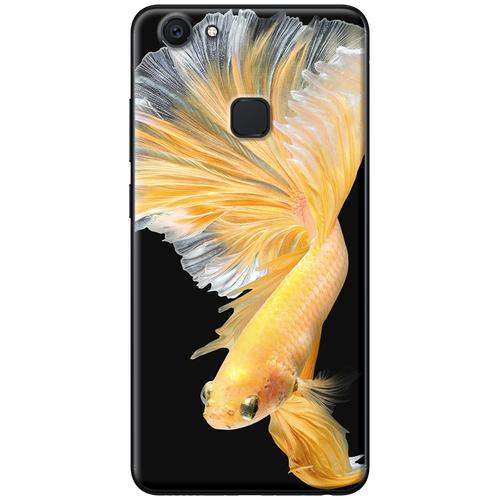 Ốp lưng nhựa dẻo Vivo V7 Plus Cá betta vàng Mã SP: VVV7P-CBV - giá tốt