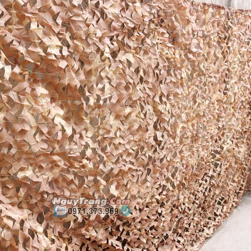 Lưới ngụy trang màu nâu đất trang trí size 6 mét vuông có may viền