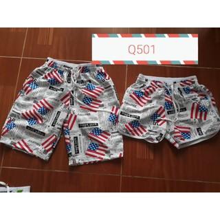 Quần gia đình đi biển mẫu cờ mỹ - Q501 thumbnail