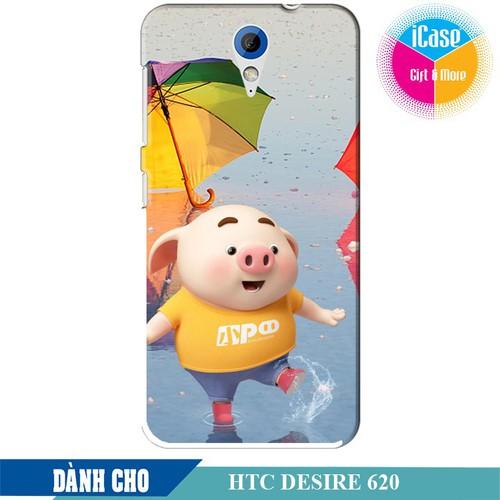 Ốp lưng nhựa dẻo dành cho HTC Desire 620 in hình Heo Tinh Nghịch