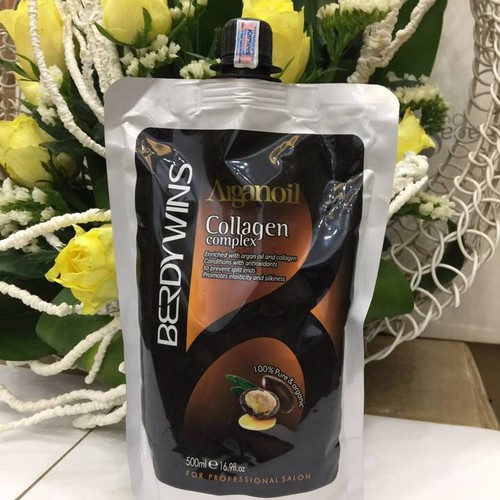Hấp phục hồi Collagen Berdywins Arganoil 500ml