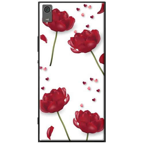 Ốp lưng nhựa dẻo Sony XA1 Plus Hoa đỏ nền trắng Mã SP: XA1P-HDNT - giá tốt