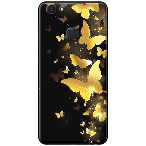 Ốp lưng nhựa dẻo Vivo V7 Bướm vàng Mã SP: VVV7-BV - hàng chất lượng cao