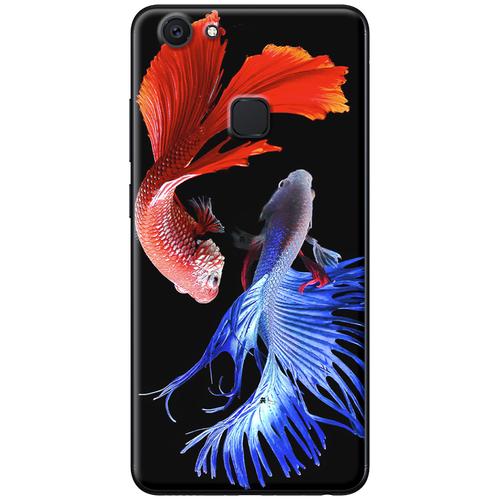 Ốp lưng nhựa dẻo Vivo V7 Plus Cá betta xanh đỏ Mã SP: VVV7P-CBXD - giá tốt